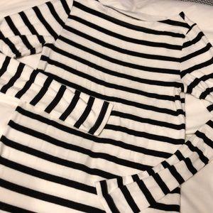 Black and white striped top- super soft!